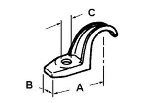 Strap, One Hole Pipe, Malleable Iron-1