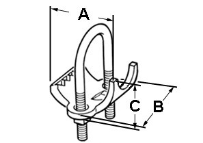"""2-1/2"""" Right Angle type conduit clamp for Rigid, IMC and EMT conduit.-1"""