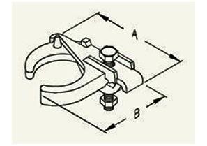 """2-1/2"""" Edge type conduit clamp for Rigid, IMC and EMT conduit.-1"""