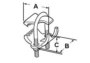 "3"" Parallel type conduit clamp for Rigid, IMC and EMT conduit.-1"
