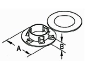 Bushing, Stud, Polypropylene-1
