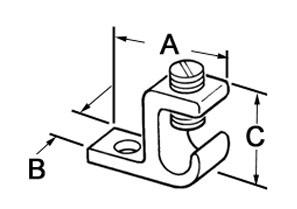 Lug, Solderless, Aluminum, Stud Size 1/4 Inch-1