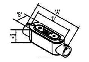 """2-1/2"""" Type C Set Screw Type EMT Conduit Bodies with Cover and Gasket-1"""