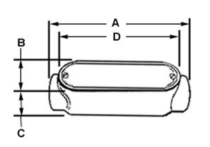 Rigid and IMC Conduit Body, Type C, Aluminum, Cover and Gasket, Size 3-1/2 Inch-1