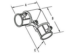 """3/4"""" Set Screw Corner Elbow with Side Cover-1"""