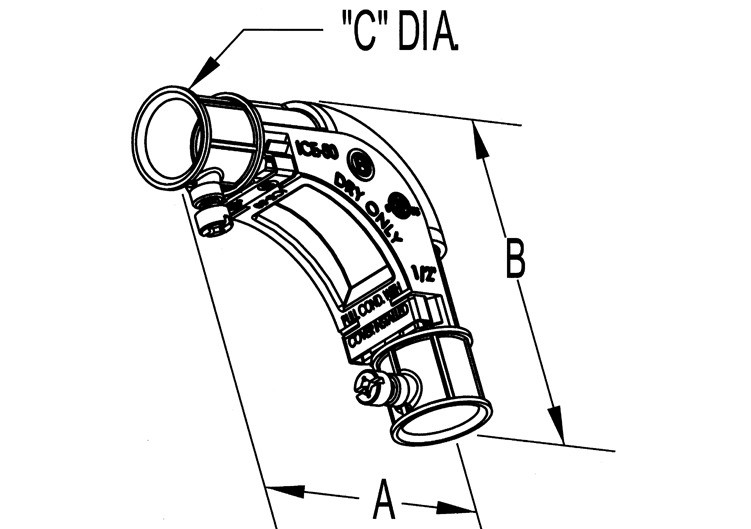 """1"""" Set Screw Inside Corner Elbow with removable cover-1"""