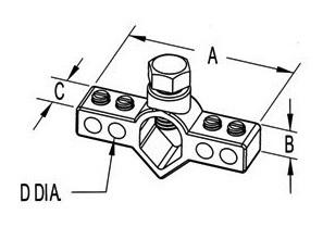 Mighty-Bond® Intersystem Ground Rod Bridge Clamp-1