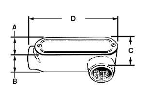 Rigid and IMC Conduit Body, Type LL, Aluminum, Cover and Gasket, Size 1 1/4 Inch-1