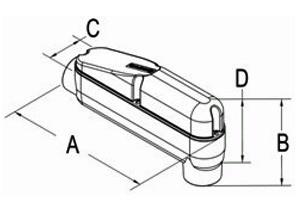 Conduit Body, Mogul, Aluminum, Size 2-1/2 Inch-1