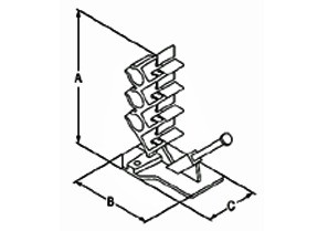 Cable Stacker, Plastic, Data / Communication Cable-1