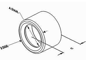 Bushing, Insulating, Polyethylene, Trade Size 1/2 Inch-1