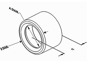 Bushing, Insulating, Polyethylene, Trade Size 2 1/2 Inch-1