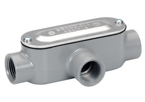 Rigid and IMC Conduit Body, Type T, Aluminum, Cover and Gasket, Size 3 Inch-0