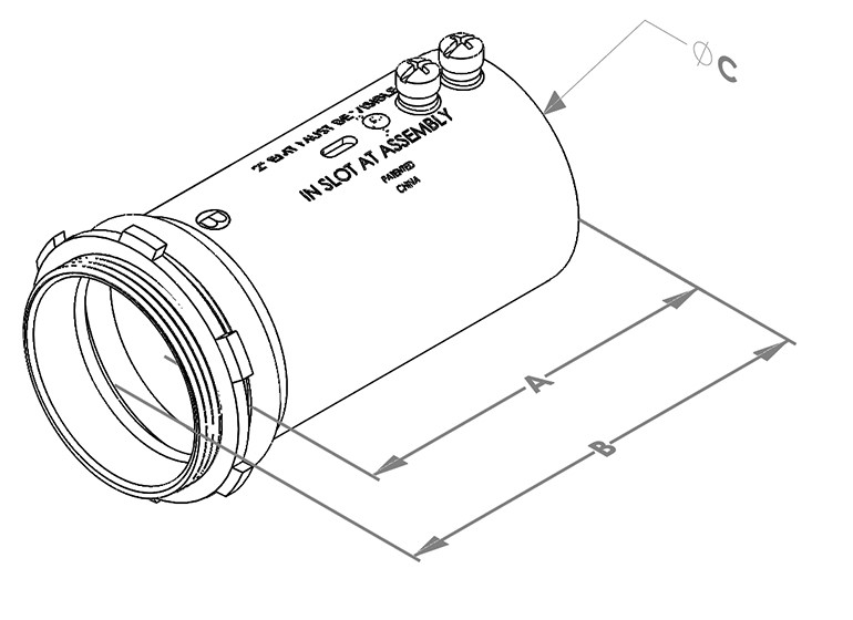 "Mighty-Align® SLP Series Steel Slip 3"" EMT/Rigid Connectors-1"