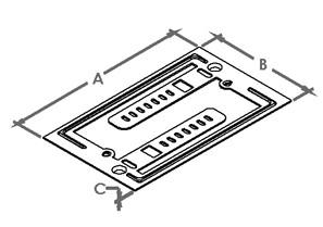 Bracket, Mounting, Communication / Data Plate, Zinc plated steel-1