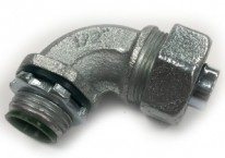 Recommended products - Connector, Liquid Tight, 90 Degree, Steel, Insulated Throat, Size 3/8 Inch