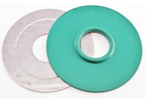 "Mighty-Seal® 2"" to 3/4"" Raintight Reducing Washers. Product contains one coated and one uncoated galvanized steel reducing washer. Maintains Raceway Integrity. Sunlight Resistant. Suitable for use in Wet Locations."