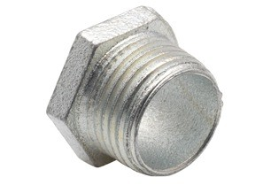 Nipple, Conduit, Malleable Iron, Insulated Throat, Size 2-1/2 Inch