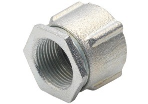 Coupling, Conduit, Three-Piece, Aluminum, Size 1/2 Inch