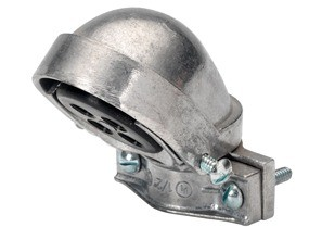 Entrance Cap, Clamp-On, Aluminum, Size 3-1/2 Inch