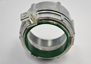 Threaded Grounding and Bonding Hub, Zinc Die Cast, Size 3 Inch, Aluminum Lay-in Lug