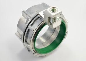 Threaded Grounding and Bonding Hub, Zinc Die Cast, Size 3.5 Inch, Aluminum Lay-in Lug