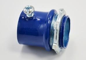 """Blue 1"""" Set Screw EMT Connector, Steel"""