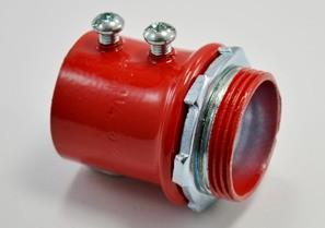 """1-1/4"""" Red Steel EMT Connector"""
