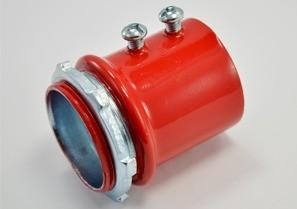 """1-1/2"""" Red Steel EMT Connector"""