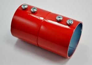 2 Fire Alarm Emt Coupling Red Steel Couplings Steel Color