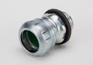 "Raintight Connector, Compression, Steel, Size 1/2"""