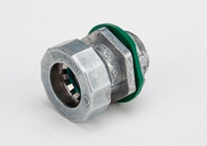 Bridgeport Fittings Mighty-Seal® 3/4 inch EMT Connectors are used to connect a 3/4 inch EMT raceway to a box, device or enclosure. The 251MSRT 3/4 inch Mighty-Seal® connector is UL listed for use in wet locations. Raintight. Patented