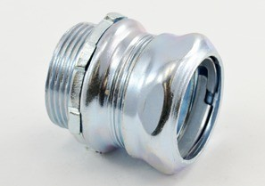 Connector, Compression, Steel, Size 1 1/4 Inch