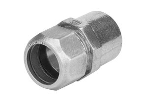 "Combination coupling for transitioning between 1/2"" Rigid or IMC raceways to 1/2"" EMT in wet or dry locations. Listed for use in wet locations. Raintight"