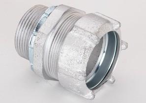 """1-1/4"""" Malleable Iron Rigid Compression Connectors"""