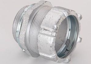 """1-1/2"""" Malleable Iron Rigid Compression Connectors"""