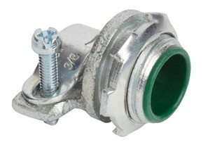 """Straight Malleable Iron AC/MC/FMC connector.  3/8"""" trade size. UL listed for sizes 14/4 to 6/3 AC/MC/MCIA.  For use with 3/8"""" trade size FMC."""