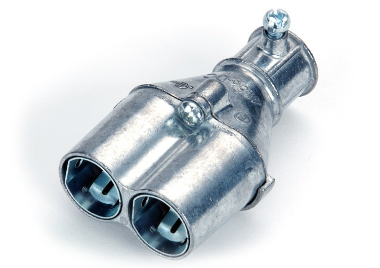 Mighty-Merge® Transition Fittings. EMT to Duplex AC/MC Coupling