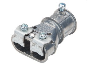 """Mighty-Merge® Transition Fittings. 3/4"""" EMT to Duplex AC/MC Coupling"""