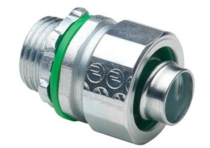 Connector, Liquid Tight, Straight, US Steel, Insulated Throat