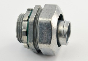 Connector, Liquid Tight, Zinc Die Cast, Insulated Throat, Size 3/4 Inch