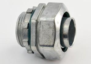 Connector, Liquid Tight, Zinc Die Cast, Size 1 Inch