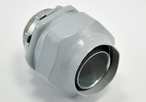 Connector, Liquid Tight, Direct Burial Rated, Zinc Die Cast, Polyolefin Coated, Size 1 Inch