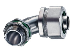 Connector, Liquid Tight, Cast Zinc, Size 3/8 Inch