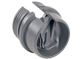 Connector, Snap-In, PVC, k.o. size 1/2""