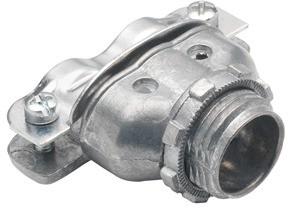 Connector, Duplex, Malleable Iron, Flex Size 3/8 Inch