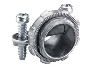 Connector, Strap, Two Screw, Zinc Die Cast, Oval Cable