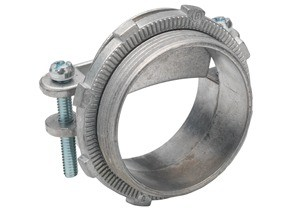 Connector, Strap, Two Screw, Zinc Die Cast, Round Cable, Size K.O. 2 Inch.