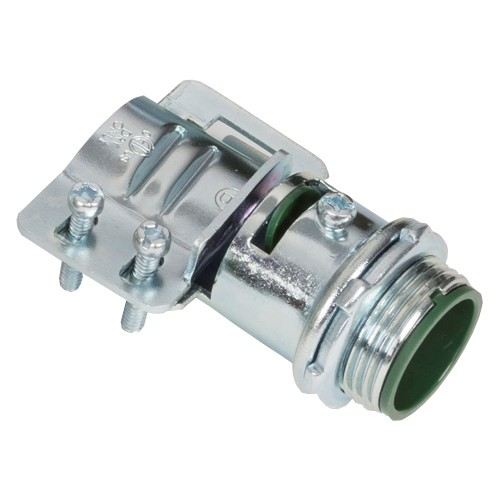 Connector, Adjustable Endstop, MC Feeder Cable, Two Screw, Steel, 1 Inch