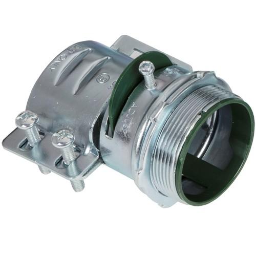 Connector, Adjustable Endstop, MC Feeder Cable, Two Screw, Steel, 2 Inch